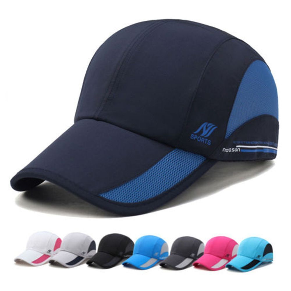 ee2201b1903 Men Women Outdoor Sport Baseball Mesh Hat Running Sun Visor Quick-drying Cap  Dark Grey for sale online