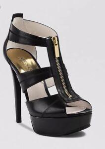 e277e773562 Image is loading Michael-Kors-Berkley-Leather-Platform-Sandals-Michael-Kors-