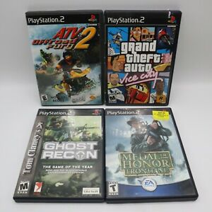 PS2 Sony Playstation 2 Game Lot GTA Grand Theft Auto Vice City Ghost Recon Medal