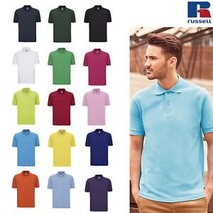 Russell-Men-039-s-Classic-Cotton-Pique-Polo-Shirt-R-569M-0-Short-Sleeve-Sports-Tee