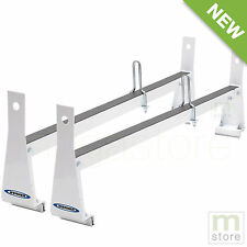 White Van Ladder Rack Roof Cargo Universal Steel Bars 600 Lb Werner