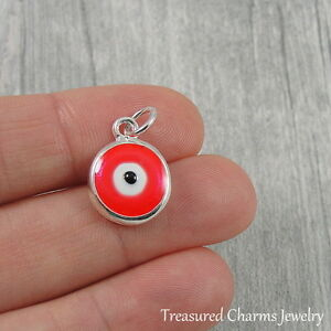 Details about Silver and Pink Evil Eye Charm - Protection Talisman Amulet  Pendant NEW
