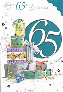 Image Is Loading HAPPY 65TH BIRTHDAY CARD PRESENTS XPRESS YOURSELF CELEBRITY