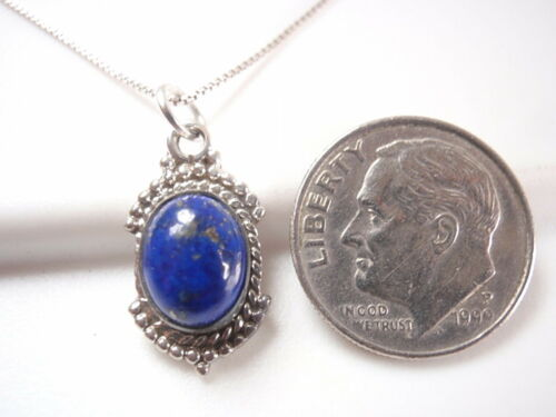 Lapis Lazuli Silver Dot Accented 925 Sterling Silver Necklace Corona Sun Jewelry