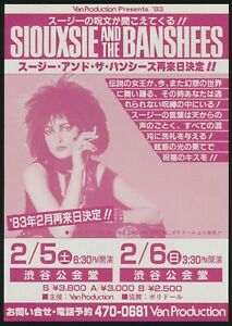 1983-Siouxsie-and-the-Banshees-Japan-Music-Concert-UK-British-Rock-Tour-Flyer
