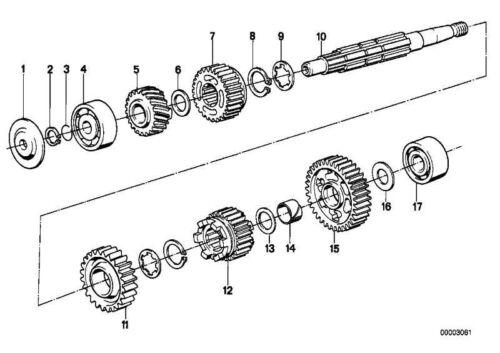 Sicherungsring 17X1 Original BMW 07119934100
