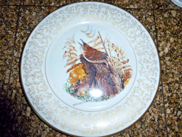 DON WHITLATCH HOUSE WREN GORHAM CHINA PLATE 1973 LIMITED EDITION BIRDS
