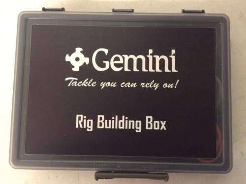 Gemini Genie Rig Building Tackle Box....Plus free Packet of Cox and Rawle hooks