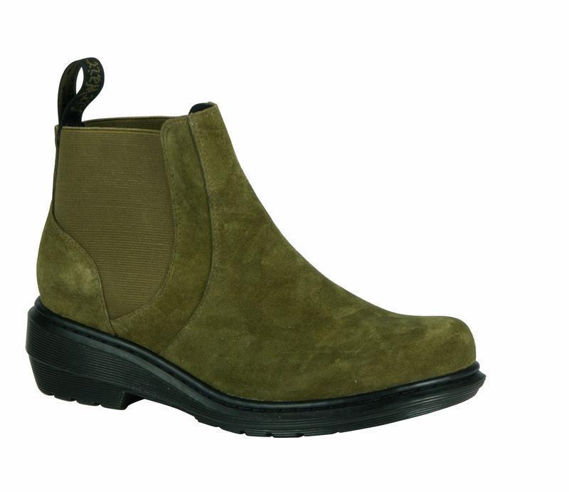 DR Martens Slip On Stivali Pamela Grenade verde 21561343 ORIGINALE DOC
