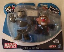 NIB Playskool Mr. Potato Head Marvel Mixable Mashable Heroes Set Thor & Iron Man