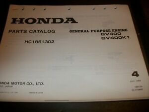 Image Is Loading Honda GV400 GV400K1 Illustrated Parts Manual Dealer Manual