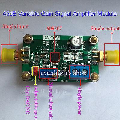 1-500MHz RF Broadband Signal Amplifier Module 32dB linear Variable Gain AD8367