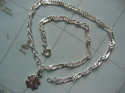 Fine Jewelry Fine Anklets Singapur Fußkette Mit Einhänger Gedrehte Fußkette Silber 925 Länge 27 Cm X 3 Mm