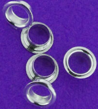 2 STERLING SILVER CORES / INSERTS FOR LARGE HOLE CHARM BEADS, 5 MM, EUROPEAN
