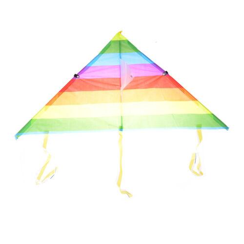 RegenbogenDreieck-Nylon-Outdoor-Sport-Fliegen-Drachen-Drachen-Schnur-BrettYR