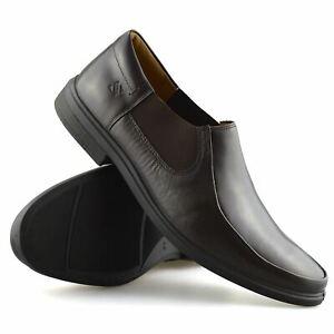 Mens-Leather-Slip-On-Casual-Smart-Designer-Mocassin-Work-Loafers-Shoes-Size