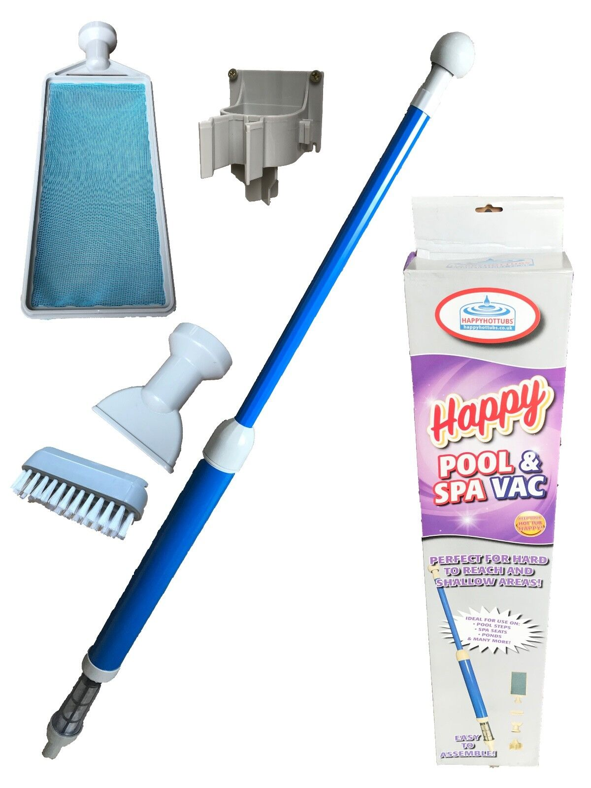 Happy Hot Tubs Pump-Action Spa Vac Hoover Vacuum Remove Sand Grit Swimming Pool