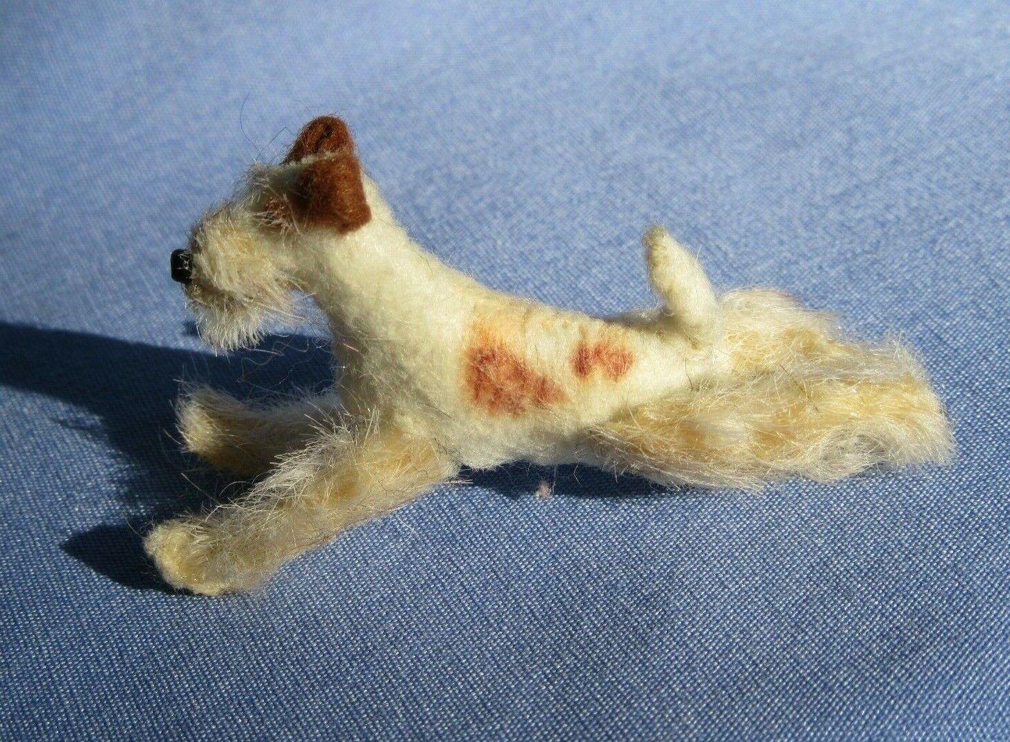 FRIPON FOX TERRIER BlauETTE BRU KESTNER FASHION DOLL COMPANION OOAK DOG SCULPTUR