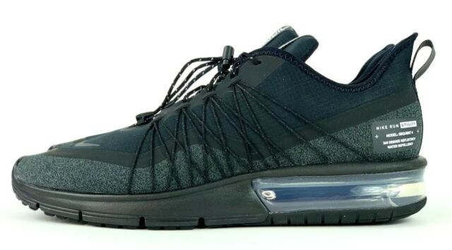 Nike Air Max Sequent 4 Utility Mens Running Shoes Black Av3236 002 Size 9 US