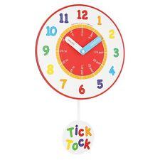 London Clock Nursery Teaching Pendulum Wall Clock, Multi-Colour