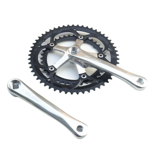 Silver ,Black 165mm x 39T-53T Square Taper, 6-10-speed Details about  /Bike Crankset