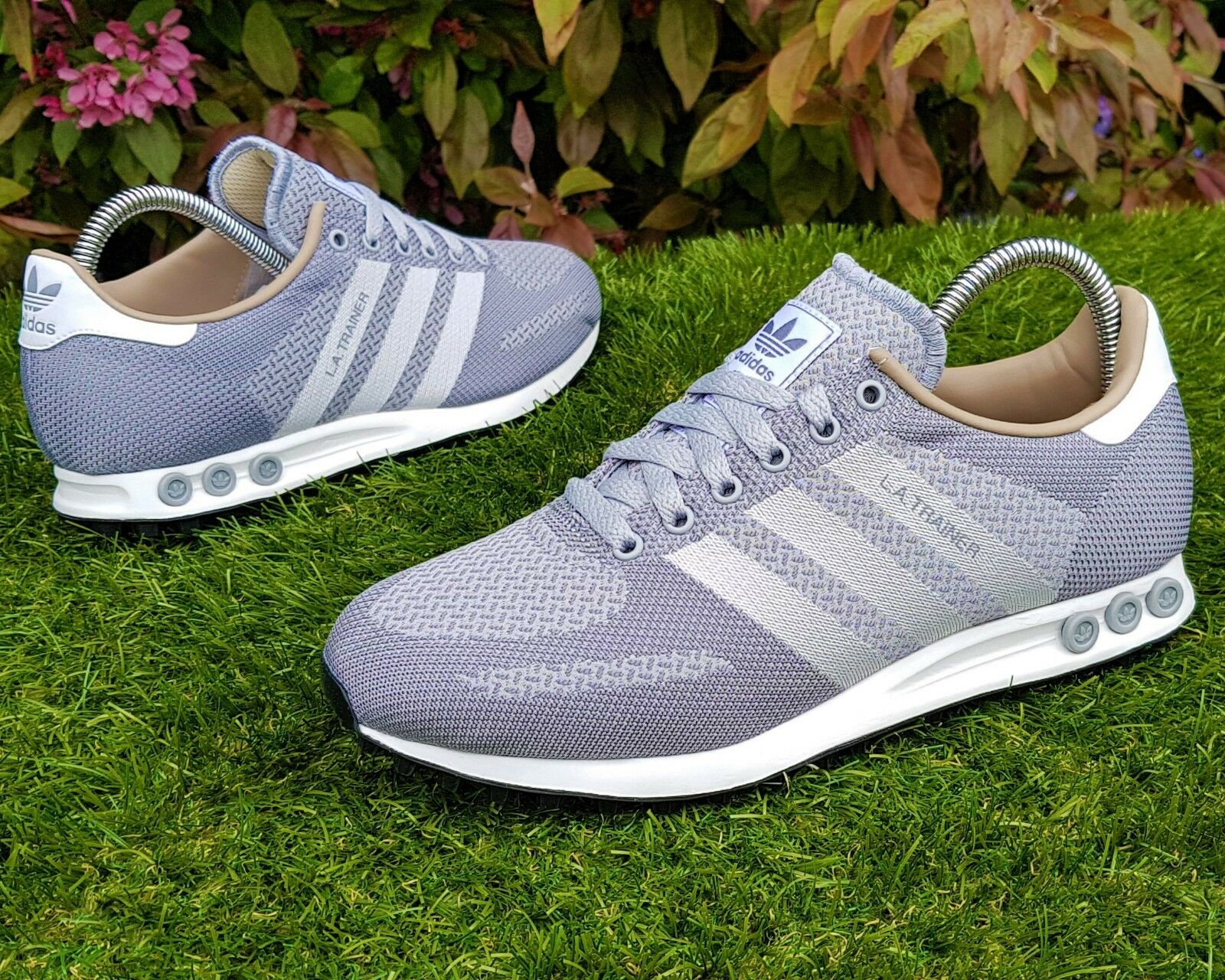 BNWB & Genuine Adidas Originals ® LA Trainer Weave Gris Trainers UK