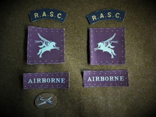 RASC Airborne Full Set of reproduction badges for Battledress