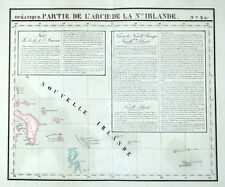 NEW IRELAND, PAPUA NEW GUINEA, PACIFIC OCEAN, VANDERMAELEN  antique map 1827