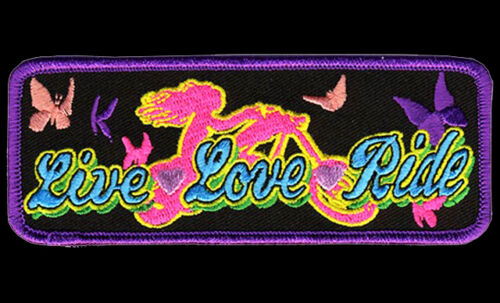 Ladies Love Ride Patch 5 inch PATCH