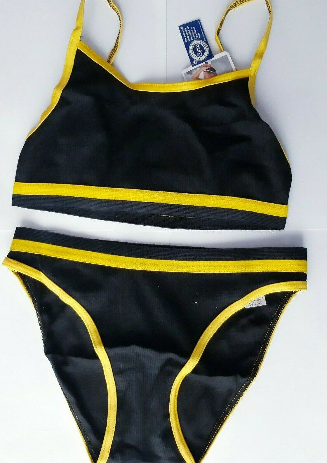 Bikini mujer Vintage talla 40 bañador verano negro playa baño