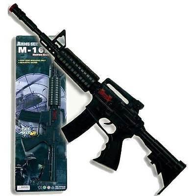 Gewehr M16 mit Licht- und Soundeffekten - Gangster - Polzei - Waffen -