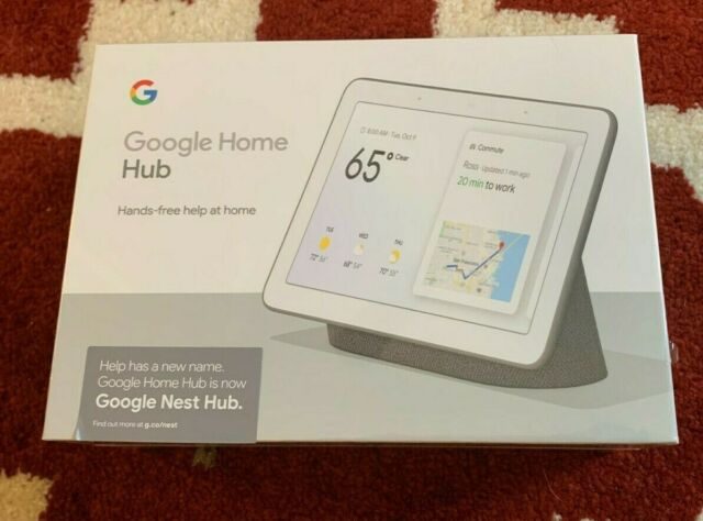 """Google Nest Hub 7"""" Touchscreen Charcoal Voice Recognition New Sealed"""