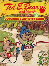 Ted E Bear coloring book RARE