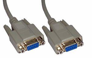 5m Rs232 Croisé Câble Série Null Modem 9 Broches Croisées De Câble Db9 Femelle à Femelle-afficher Le Titre D'origine