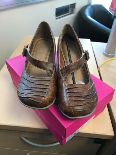 Size Shoes Platform 40 6 Court Euro Pumps Brown Low Heel Wedge Ladies 2