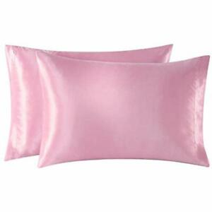 Exq Home Satin Pillowcases Set Of 2 For Hair And Skin King