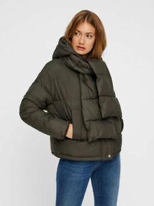 ostaa premium valinta myyntipisteiden myynti Details about Vero Moda Curve Vmscarf Puffer Short Curve Winter Jacket Peat  UK 20 VR124 01