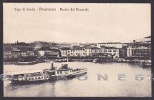 BRESCIA DESENZANO DEL GARDA 25 PIROSCAFO Cartolina viaggiata 1916