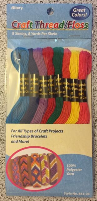 1X 50 Skeins Embroidery Floss Cross Stitch Thread Bracelet String with NeedD2Y2