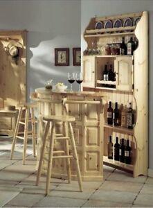 Mobile bar retrobar bancone legno rustico ebay - Mobile bar taverna ...