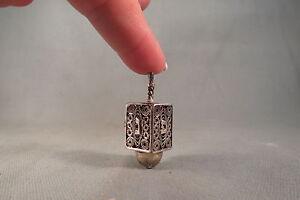 Vintage,Ornate Sterling Silver Dreidel,Hanukkah,Chanuka,Unique Jewish Toy