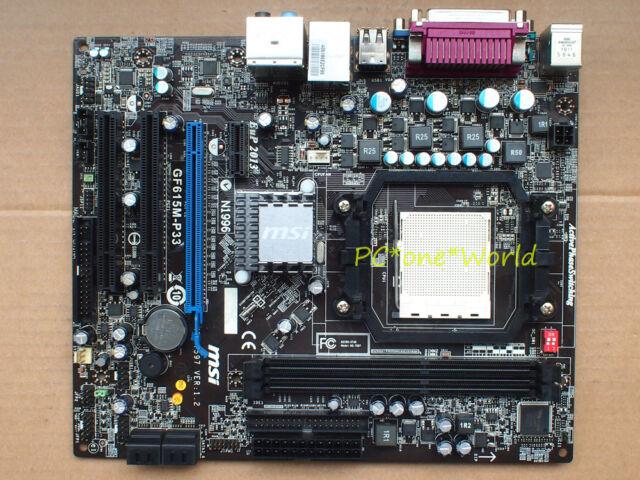 MSI MS-7597 GF615M-P33 motherboard Socket AM3 DDR3 NVIDIA GeForce 7025 black