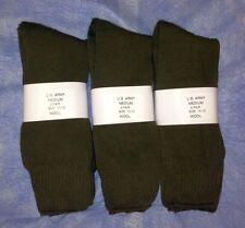 6pr Men's US Army WOOL Blend CREW Boot Socks w/ Cushion Sole OD GREEN 9-11 MED