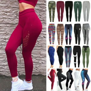 b2d38d3c800efa Image is loading Women-High-Waist-Sport-Pants-Yoga-Leggings-Fitness-