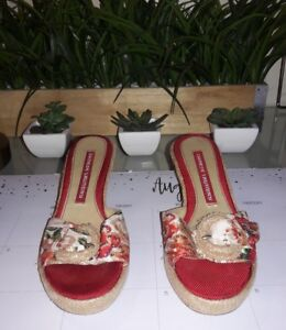 dc8703032 Image is loading Chinese-Laundry-Red-Floral-Wedge-Sandal-6
