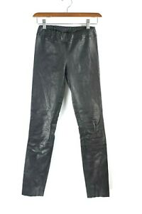 The-Row-Womens-Size-XS-Black-Pants-Skinny-Moto-Stretch-Leather-Leggings-1-950