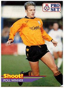Gary Bull Barnet #433 Pro Set Fútbol 1991-2 tarjeta de comercio (C364)  </span>