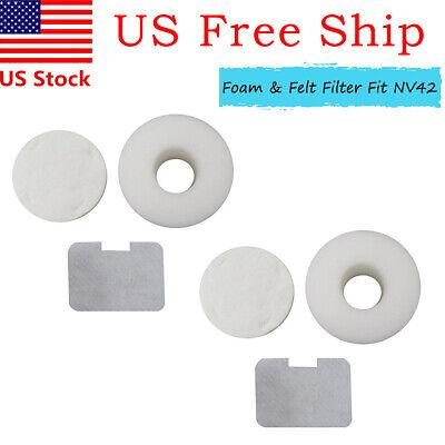 4-Pack Filter Kit for Shark Navigator NV36 NV42 NV44 NV46 UV410 Deluxe Vacuum