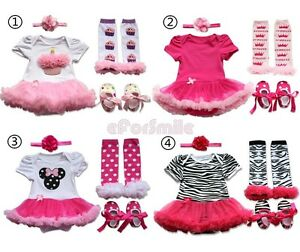 4pcs Newborn Infant Baby Girls Headband Romper Leg Warmers Shoes ...
