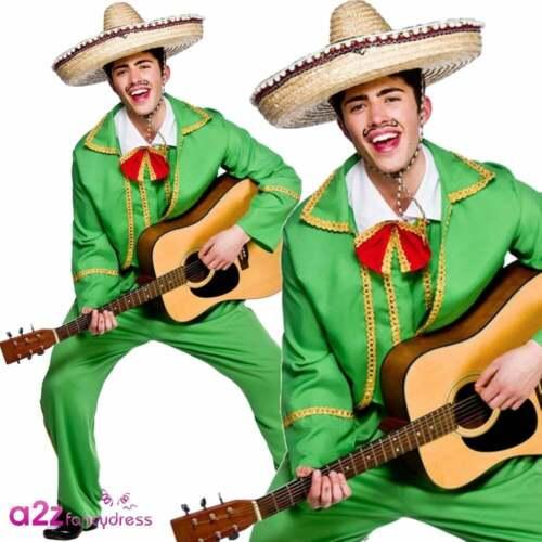 MENS MEXICAN TORTILLA GUY DORITOS MARIACHI BAND ADULT FANCY DRESS COSTUME S-XL